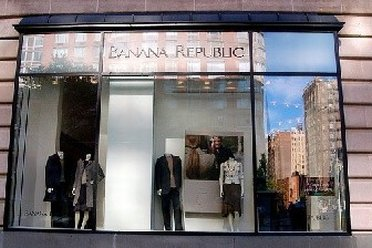 Window of Banana Republic Outlet Store