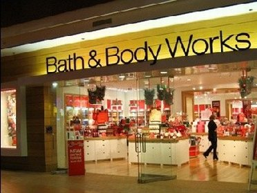 Entrance to Bath & Body Works Outlet Store
