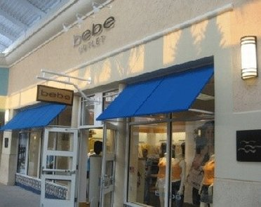 Entrance to Bebe Outlet Store