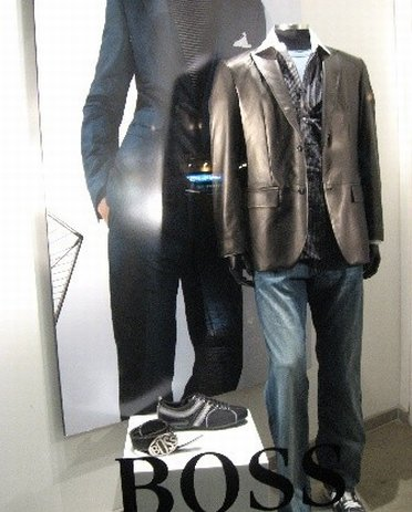 Display window of Boss Wear Outlet Store