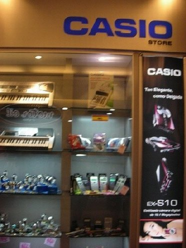 Window display of Casio Outlet Store
