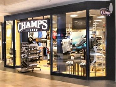 Entering Champs Sports Outlet Store