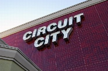 Neon signs of Circuit City Outlet Store