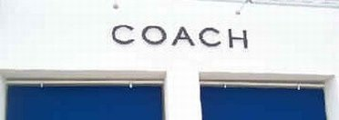 Sign of Coach Outlet Store