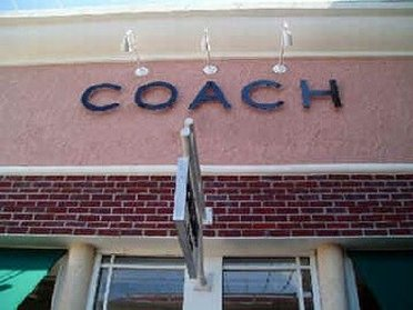 Entering Coach Outlet Store