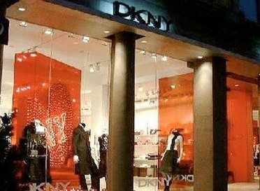Display window of DKNY Outlet Store