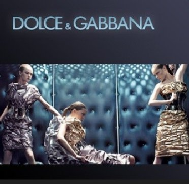 Dramatic display of Dolce and Gabbana Outlet Store