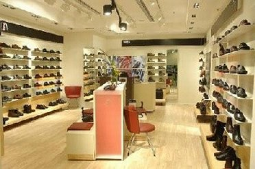Shoe display at ECCO Outlet Store