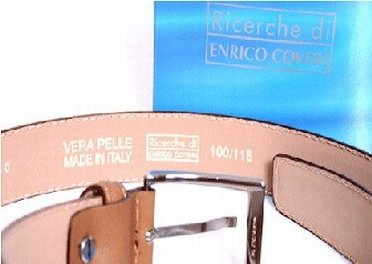 Leather belt from Enrico Uomo Outlet Store