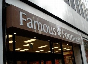 Entering Famous Footwear Outlet Store