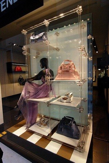Window display from Fendi Outlet Store