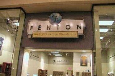 Entering Fenton Art Glass Outlet Store