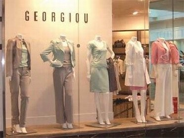 Window display at Georgiou Outlet Store