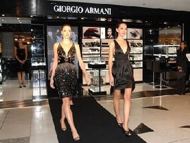 Models show at Giorgio Armani Outlet Store. Giorgio Armani has eight outlet ...