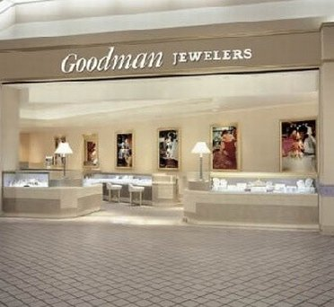 Classy interior at Goodman Jewelers Outlet Store