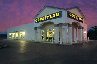 Facade of Goodyear Outlet Store