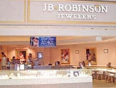 Window display of JB Robinson Jewelers outlet store