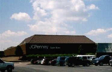 Outside JCPenney outlet store