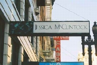Outside Jessica McClintock