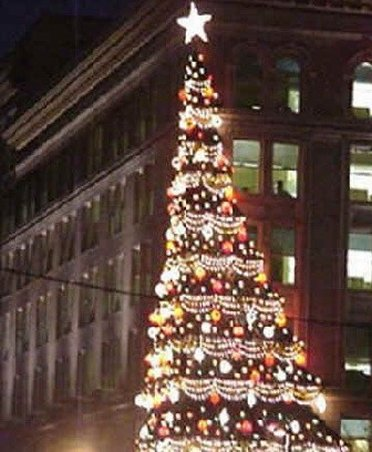 Christmas tree by Kaufmans Department Store Locations