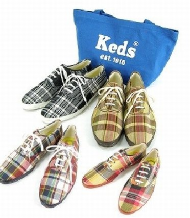 Colorful shoes from Keds outlet store