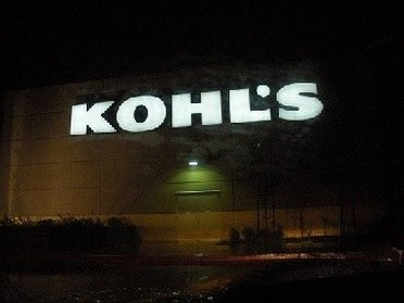 Bright sign from Kohls outlet store