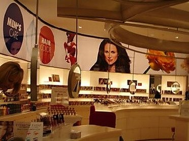 Interior from LOreal Paris outlet store
