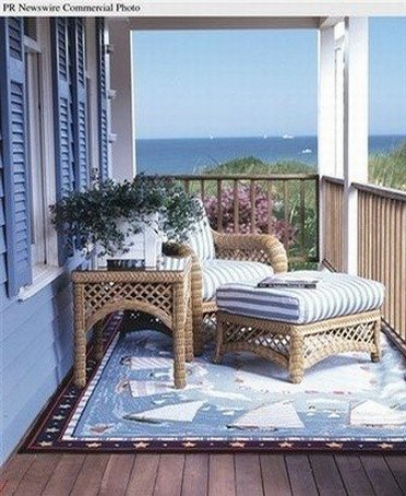 A cozy porch from Claire Murray outlet store