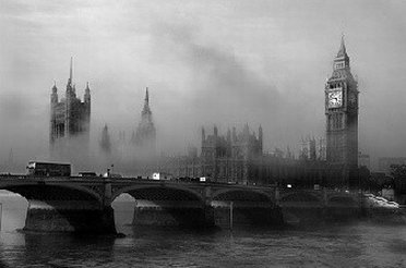 Foggy picture of London - London Fog outlet store