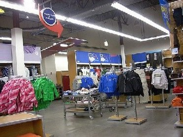Interior of Old Navy outlet store