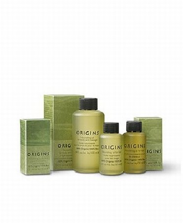 Skin care products from Origins outlet store