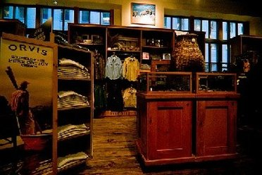 Inside an Orvis outlet store