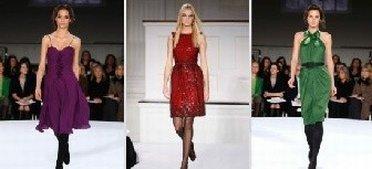 Models showing dresses from Oscar de la Renta outlet store
