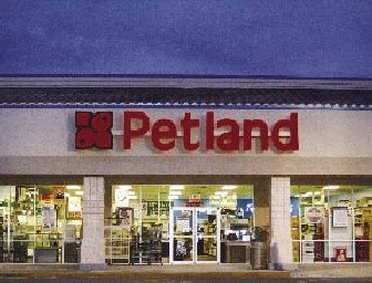 Entrance of Petland outlet store
