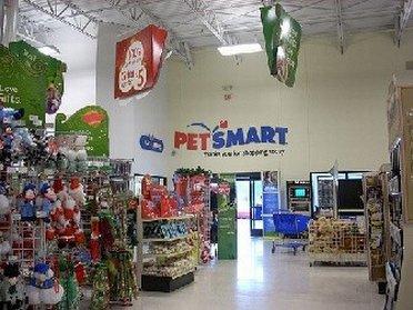 Inside PetSmart outlet store