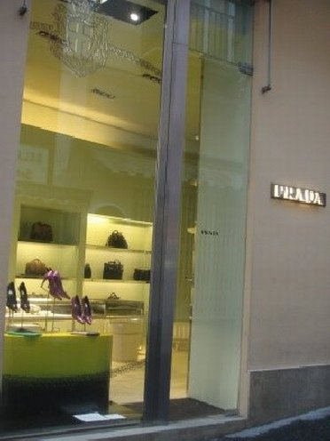 Desirable shoes from Prada outlet store
