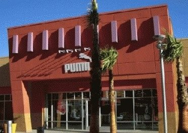 Entrance of Puma outlet store