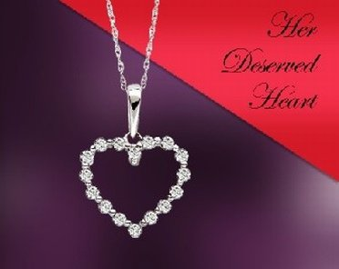 Diamond heart necklace from Rogers & Hollands outlet store