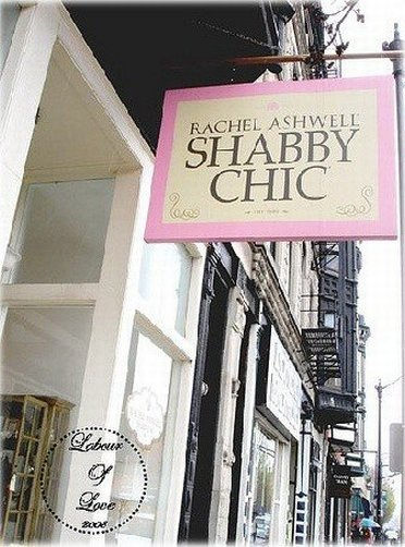 Inviting sign to Shabby Chick outlet store