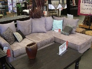 Old rose sofa from Sofa World outlet store
