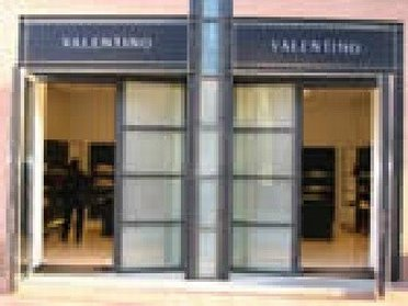 Entering Valentino outlet store