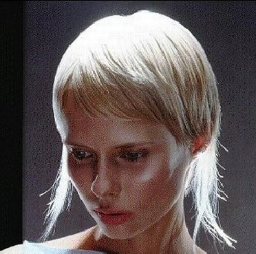 Hair model from Vidal Sassoon outlet store