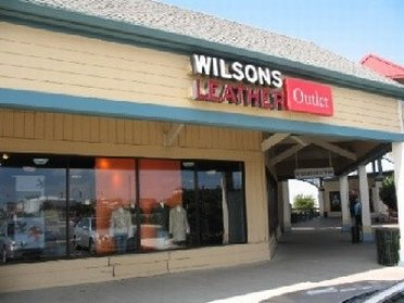 Entrance of Wilsons Leather Stores outlet store