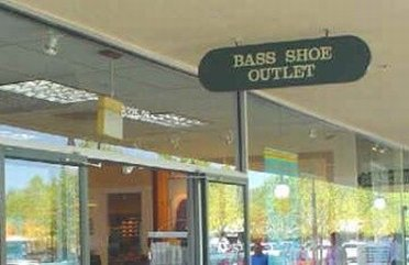 Outside view of a Bass Shoes Outlet Store