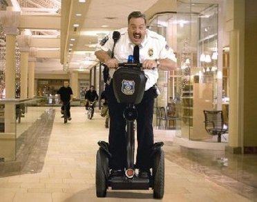 Celebrity on Segway in Burlington Mall