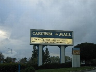 Carousel Mall Road Sign
