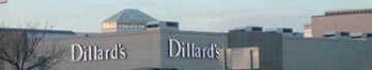 Outside view of Dillards Department Store