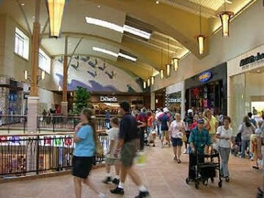 Busy inside view of Dillards Department Store