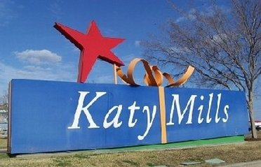 Katy Mills Mall road sign