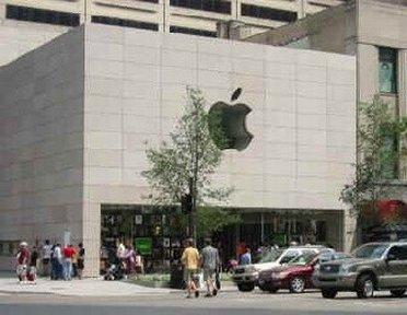 Outside Michigan Apple store